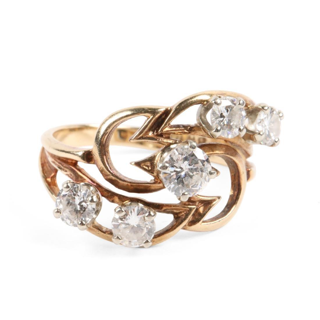 A 10K Gold, Diamond Ring