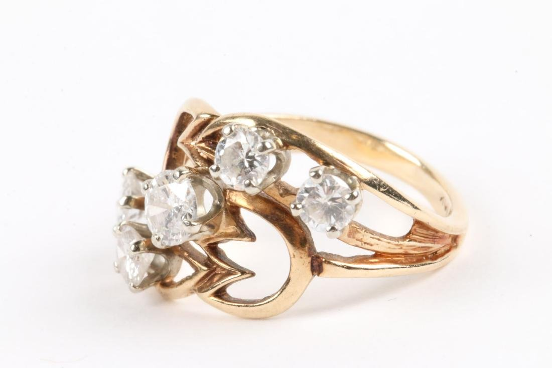 A 10K Gold, Diamond Ring - 2