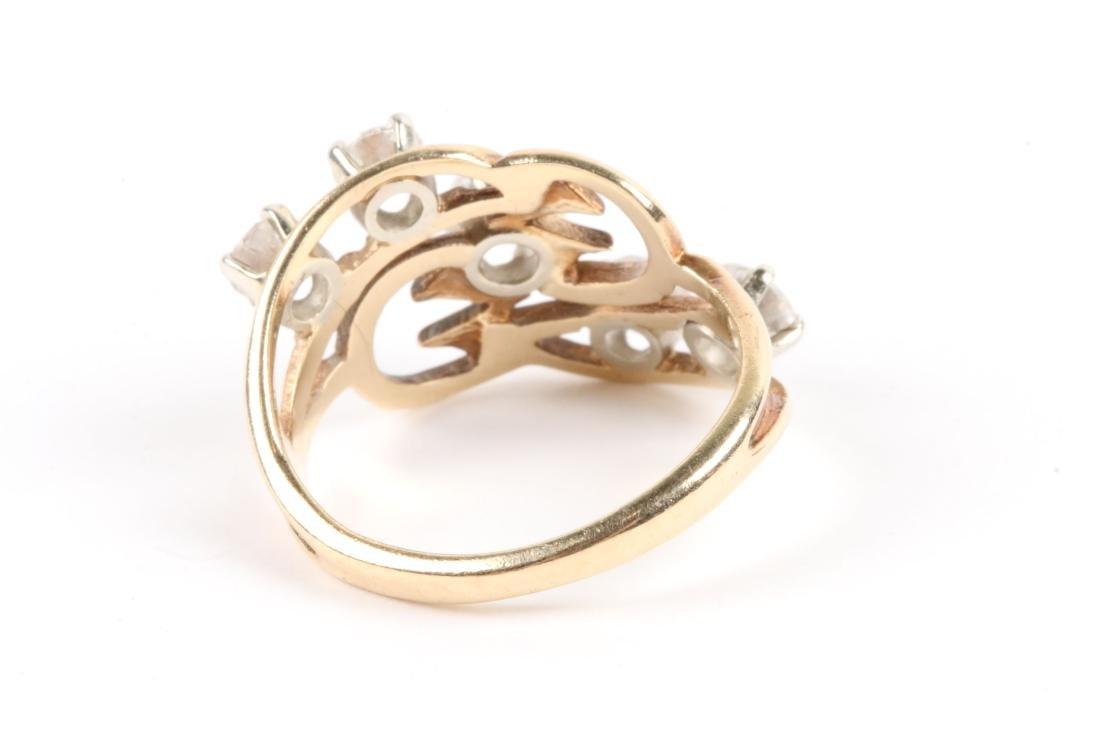 A 10K Gold, Diamond Ring - 4