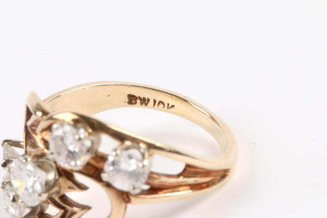 A 10K Gold, Diamond Ring - 5