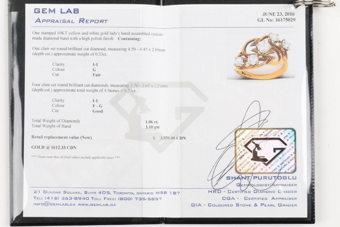 A 10K Gold, Diamond Ring - 6