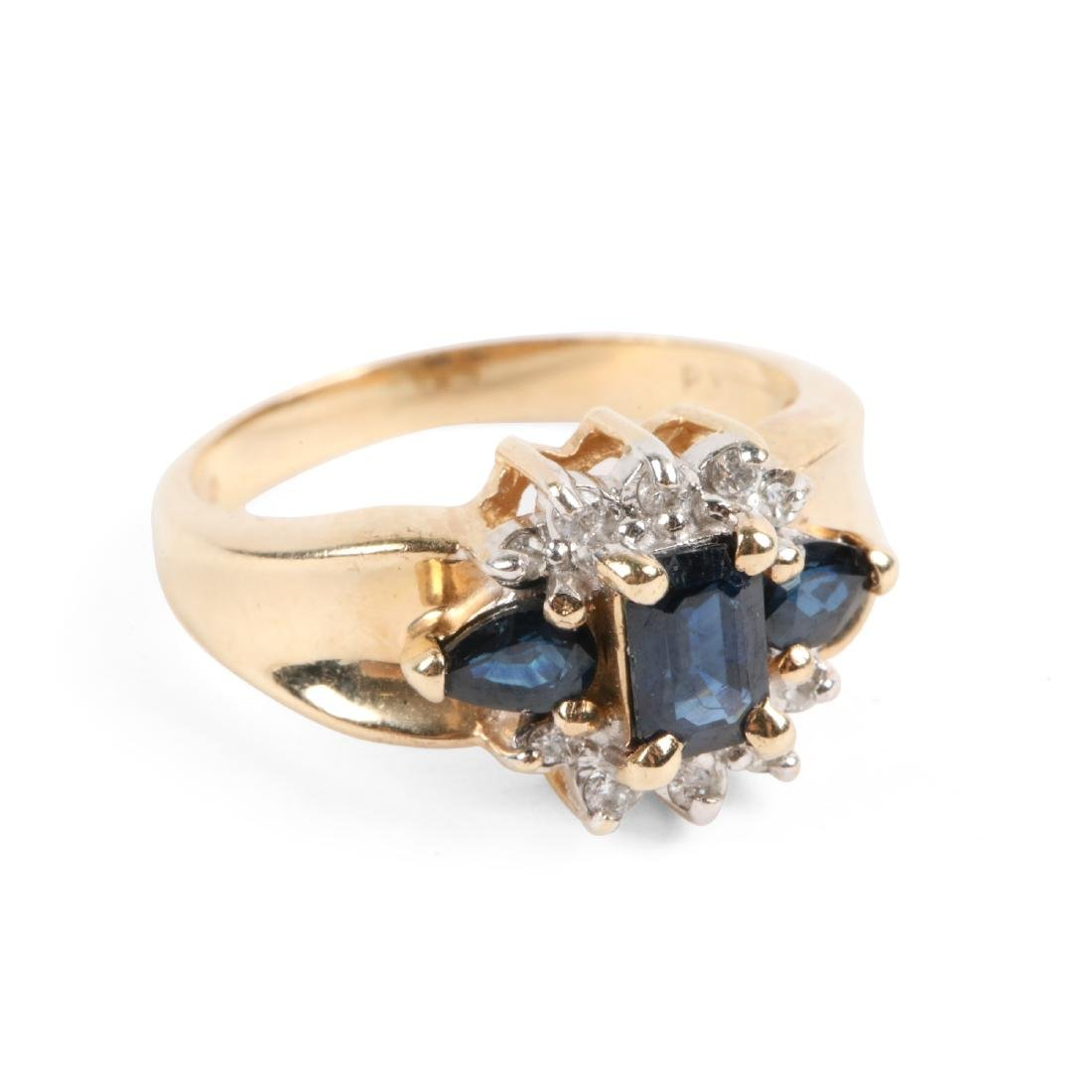 A 14K Gold, Sapphire Ring