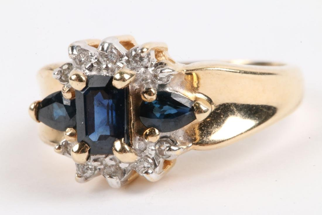 A 14K Gold, Sapphire Ring - 2