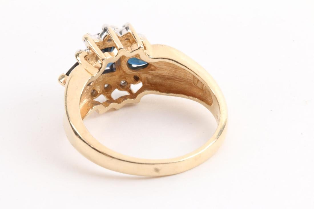 A 14K Gold, Sapphire Ring - 4