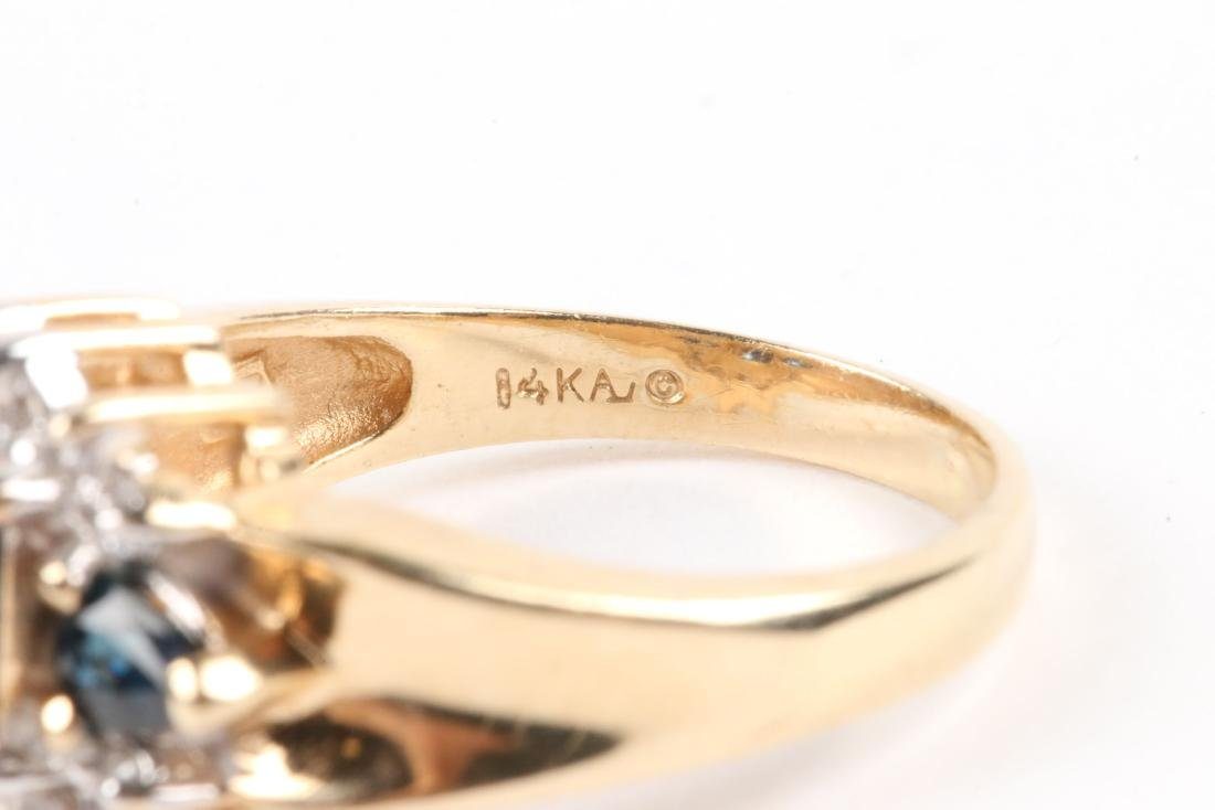 A 14K Gold, Sapphire Ring - 5