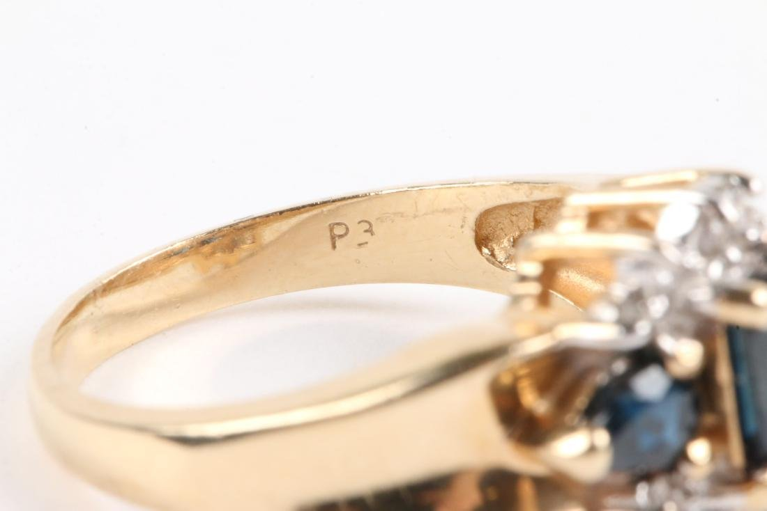 A 14K Gold, Sapphire Ring - 6