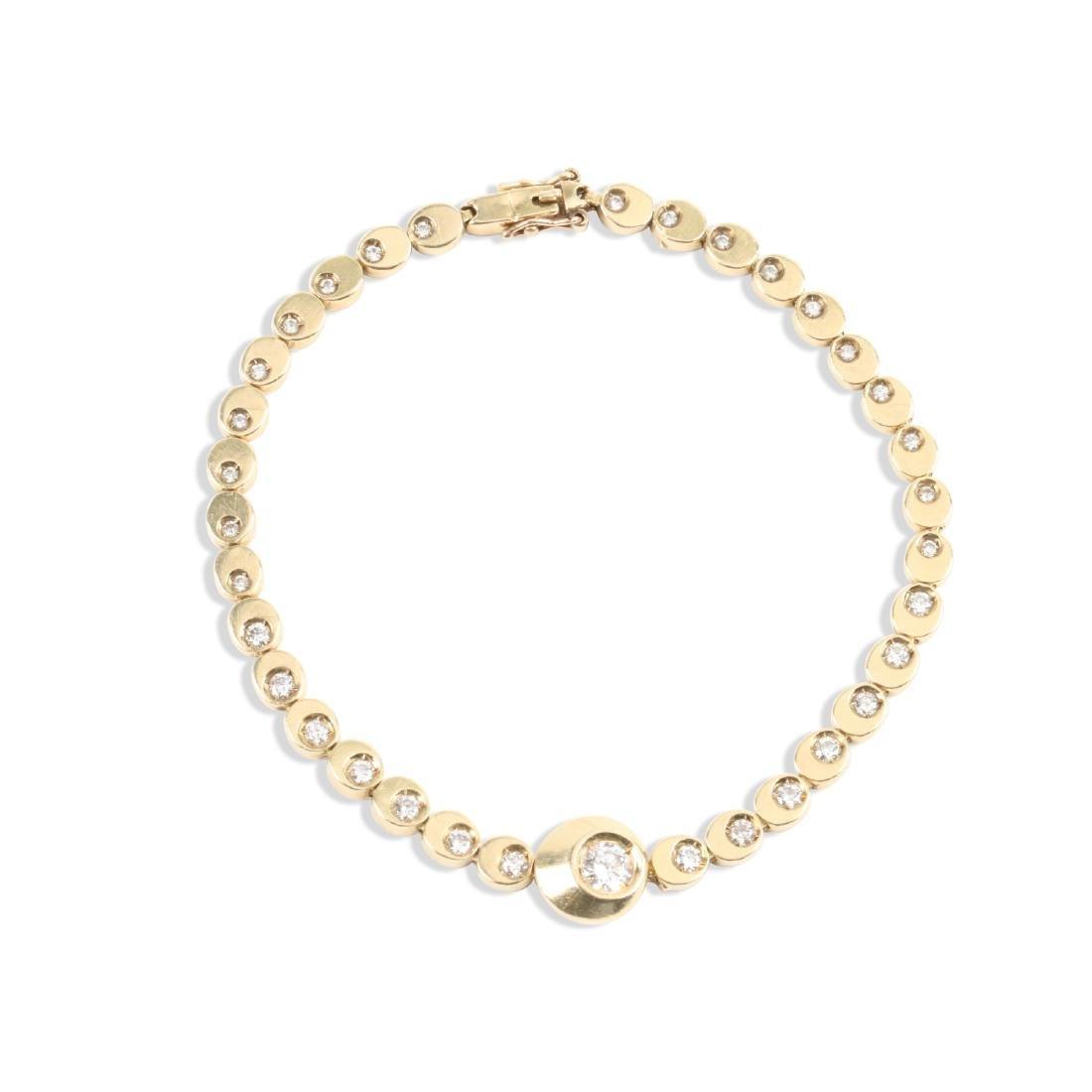 A 14K Gold & Diamond Tennis Bracelet