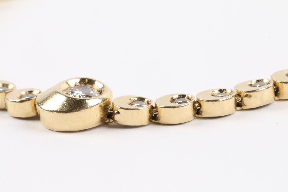 A 14K Gold & Diamond Tennis Bracelet - 3