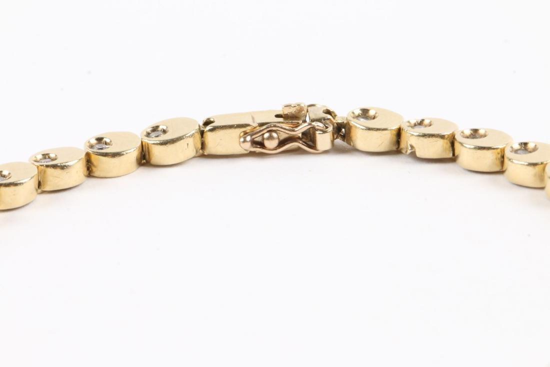 A 14K Gold & Diamond Tennis Bracelet - 4