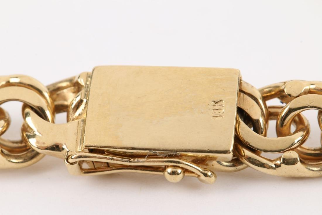 An 18K Gold Bracelet - 2