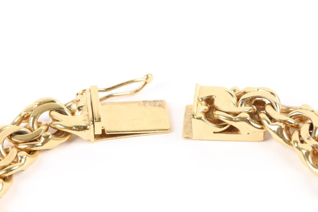 An 18K Gold Bracelet - 4