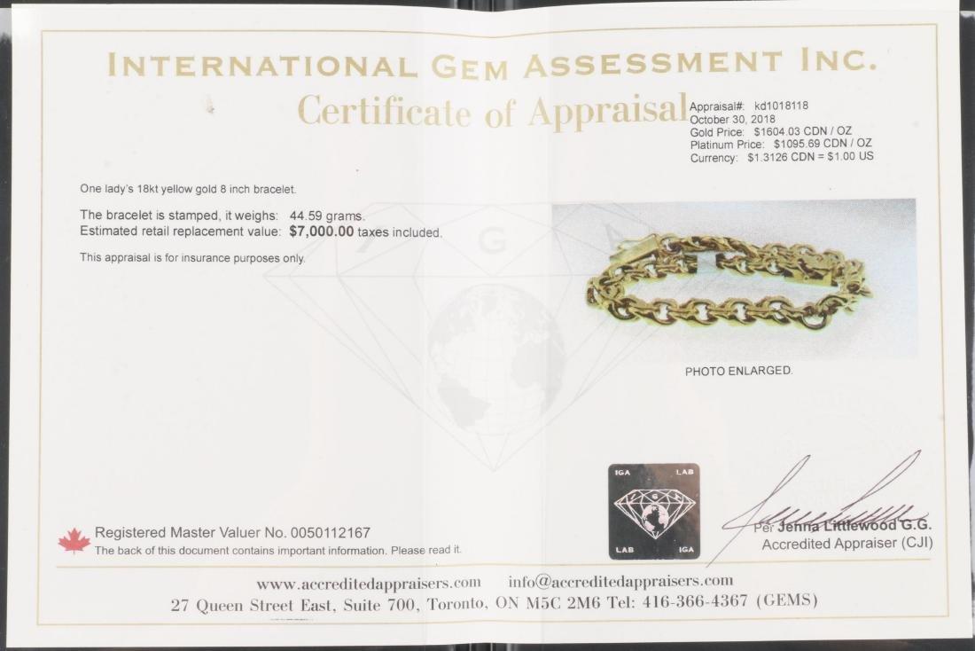 An 18K Gold Bracelet - 7