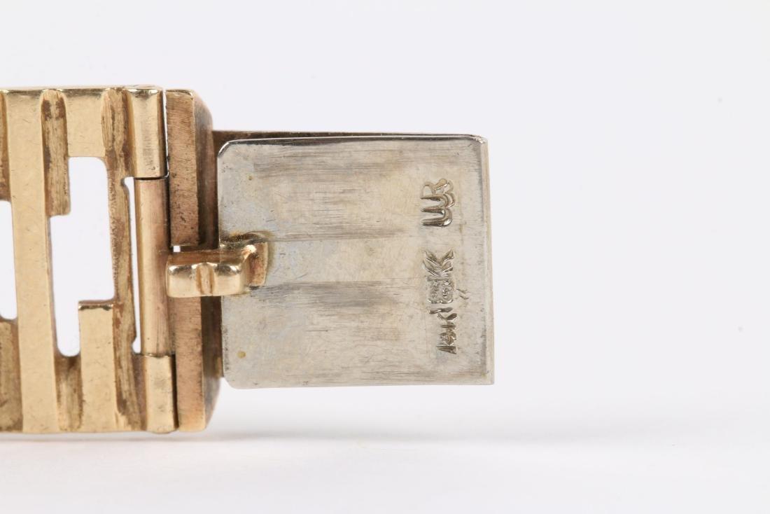 An 18K Yellow Gold Bracelet - 5