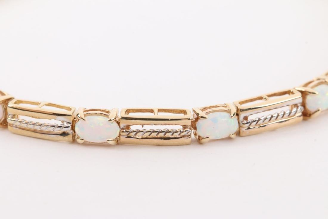 A 14K Yellow Gold, Opal Bracelet - 2