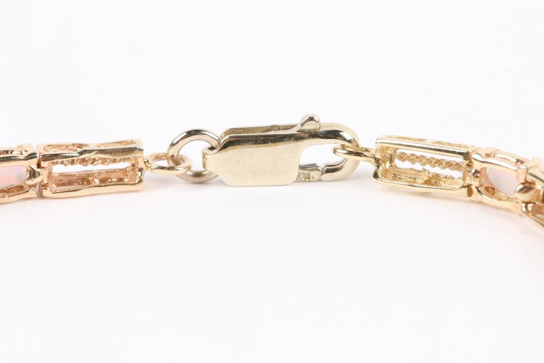 A 14K Yellow Gold, Opal Bracelet - 3