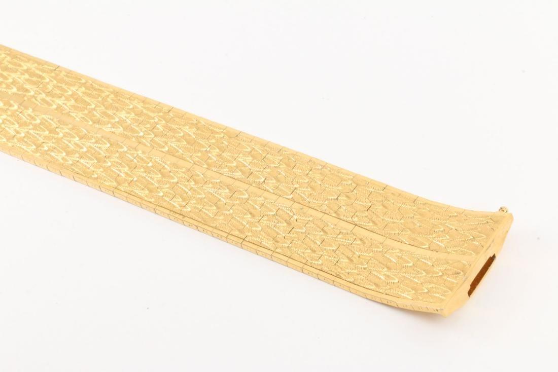 An 18K Yellow Gold Bracelet - 4