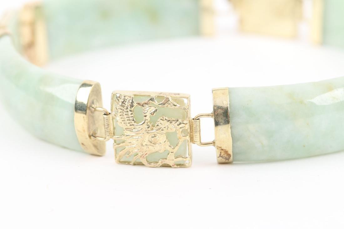 A 14K Yellow Gold & Jade Bracelet - 2