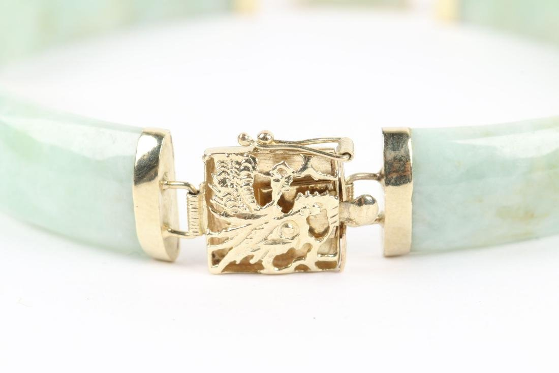 A 14K Yellow Gold & Jade Bracelet - 3