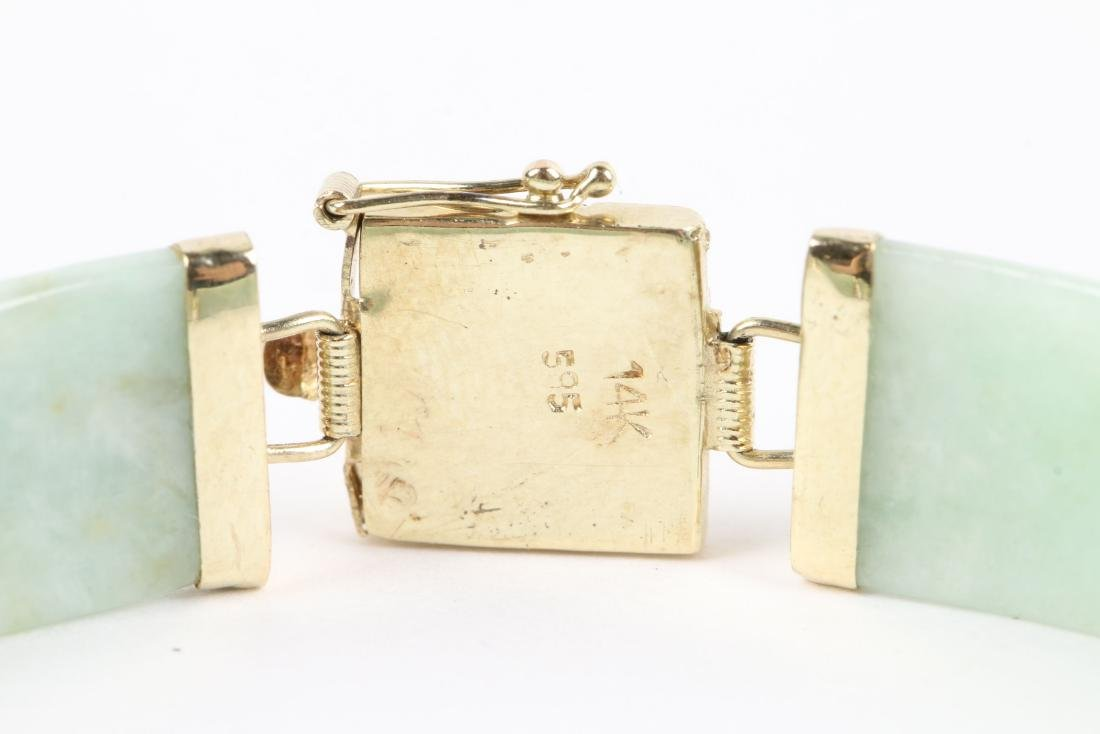 A 14K Yellow Gold & Jade Bracelet - 4
