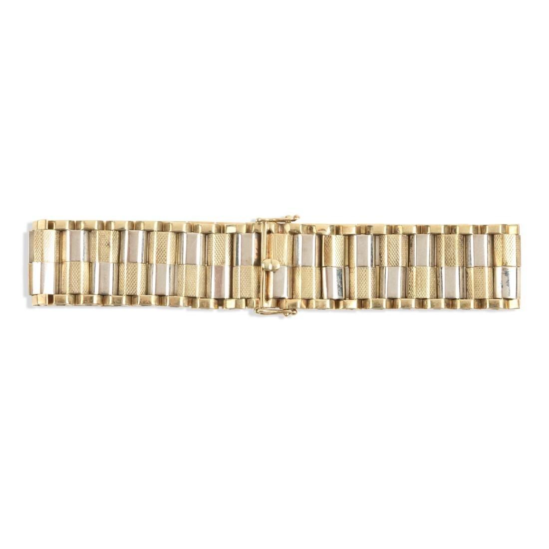 A 14K Yellow & White Gold Bracelet