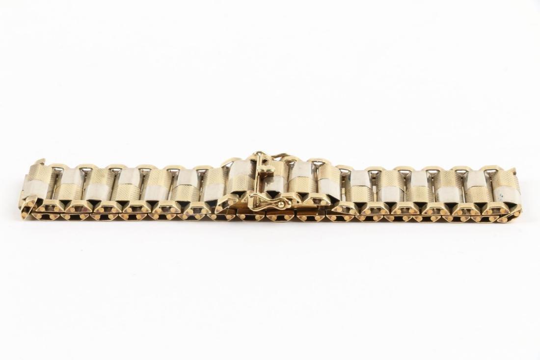A 14K Yellow & White Gold Bracelet - 2