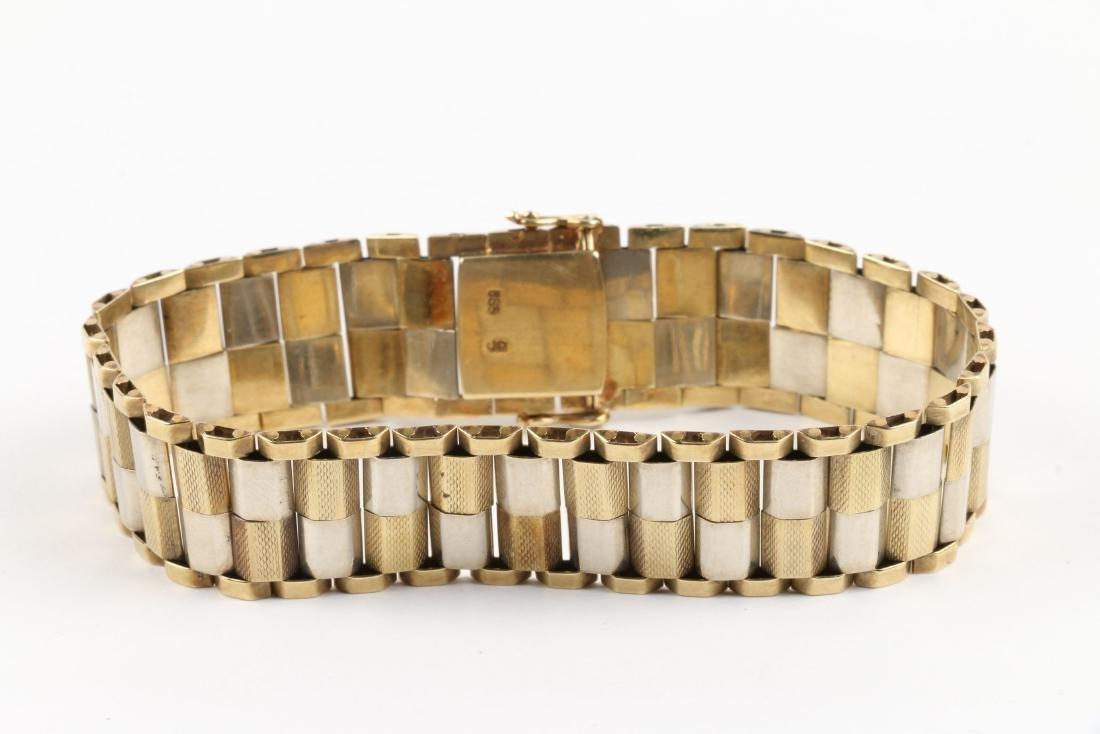 A 14K Yellow & White Gold Bracelet - 3