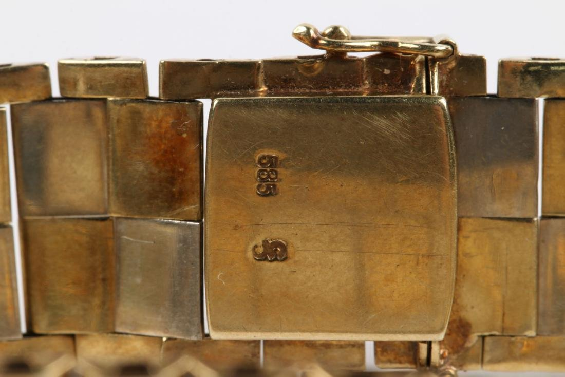 A 14K Yellow & White Gold Bracelet - 4