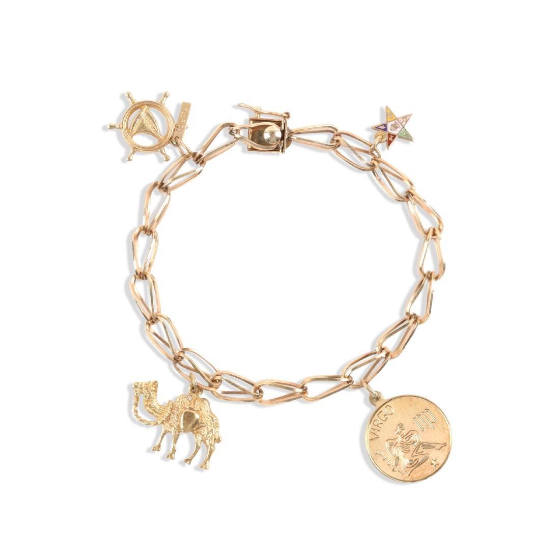 A 10K Gold Charm Bracelet