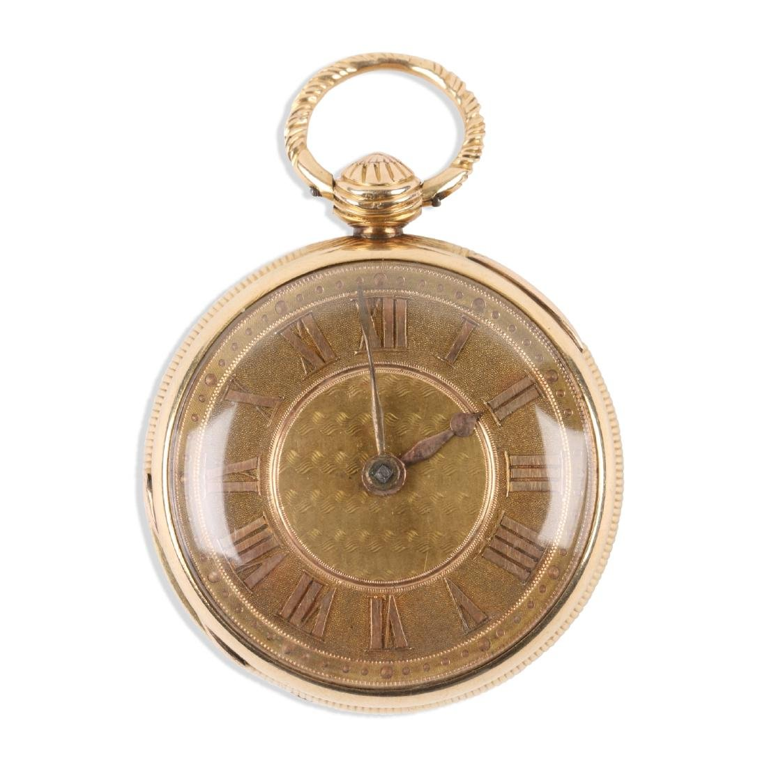 English, Lady's 18K Fusee Pocket Watch