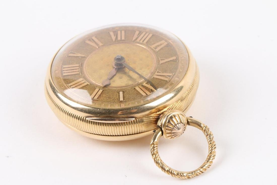 English, Lady's 18K Fusee Pocket Watch - 2