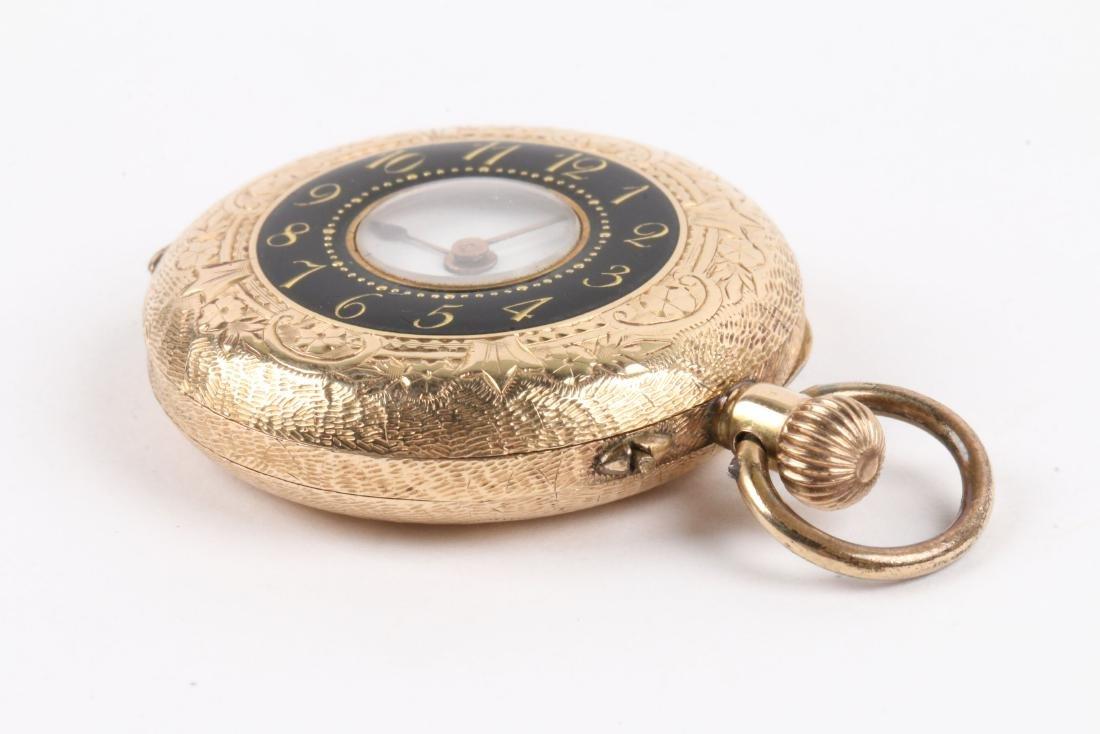 French, Lady's Enameled 14K Pocket Watch - 2