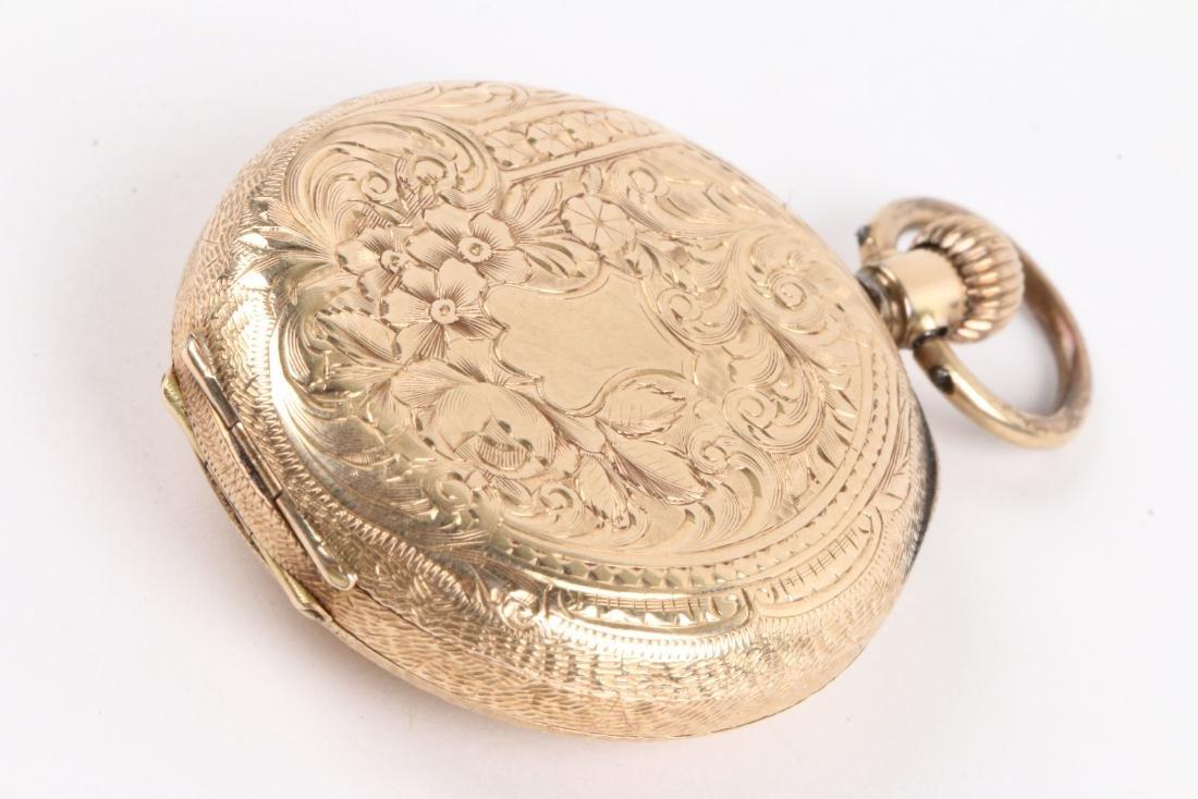 French, Lady's Enameled 14K Pocket Watch - 3