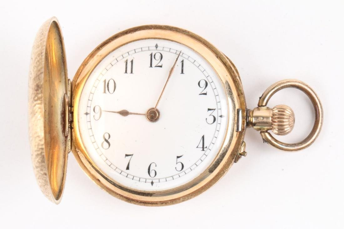 French, Lady's Enameled 14K Pocket Watch - 4