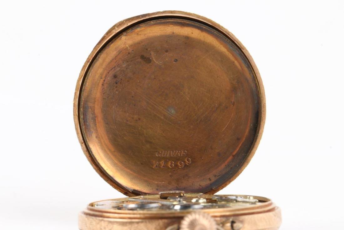 French, Lady's Enameled 14K Pocket Watch - 6