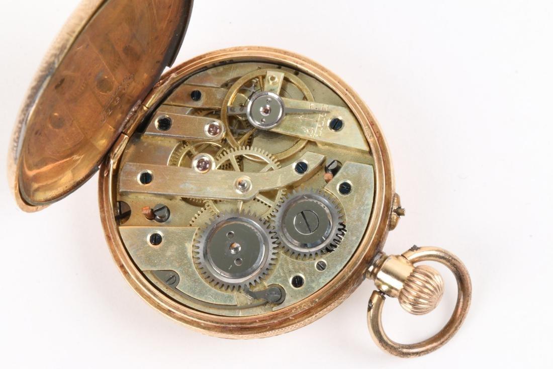 French, Lady's Enameled 14K Pocket Watch - 7