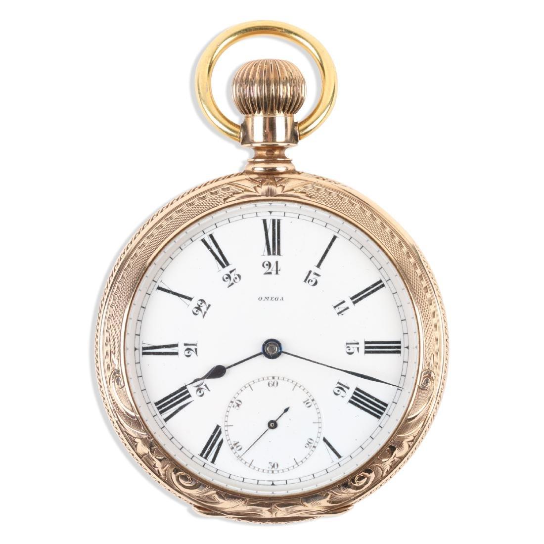 Omega, 14K Pocket Watch