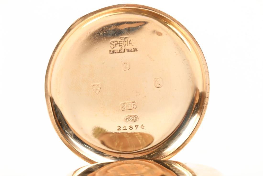 Kendall & Dent, 9K English Pocket Watch - 4