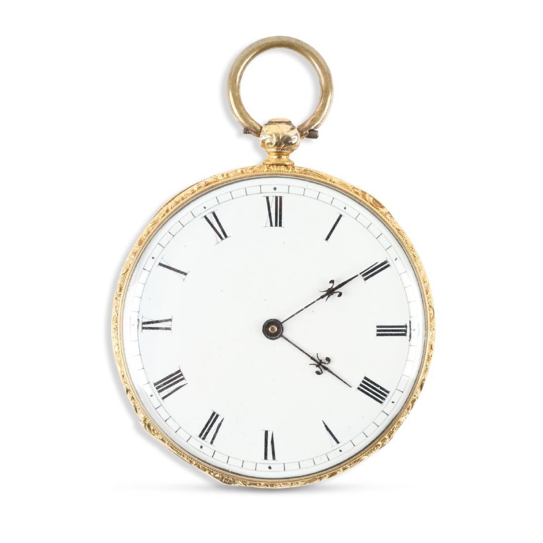 Aiguilles Courvoisier & Fils, 18K Pocket Watch