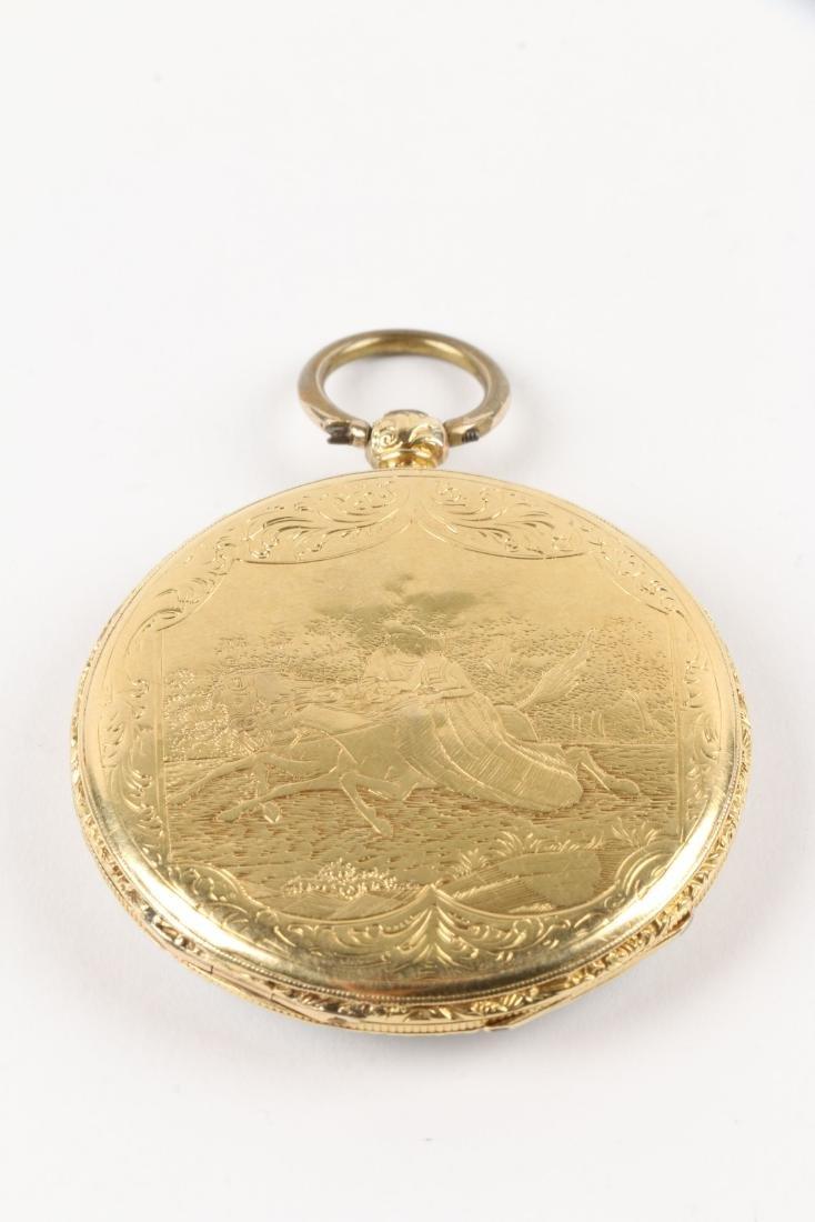Aiguilles Courvoisier & Fils, 18K Pocket Watch - 3