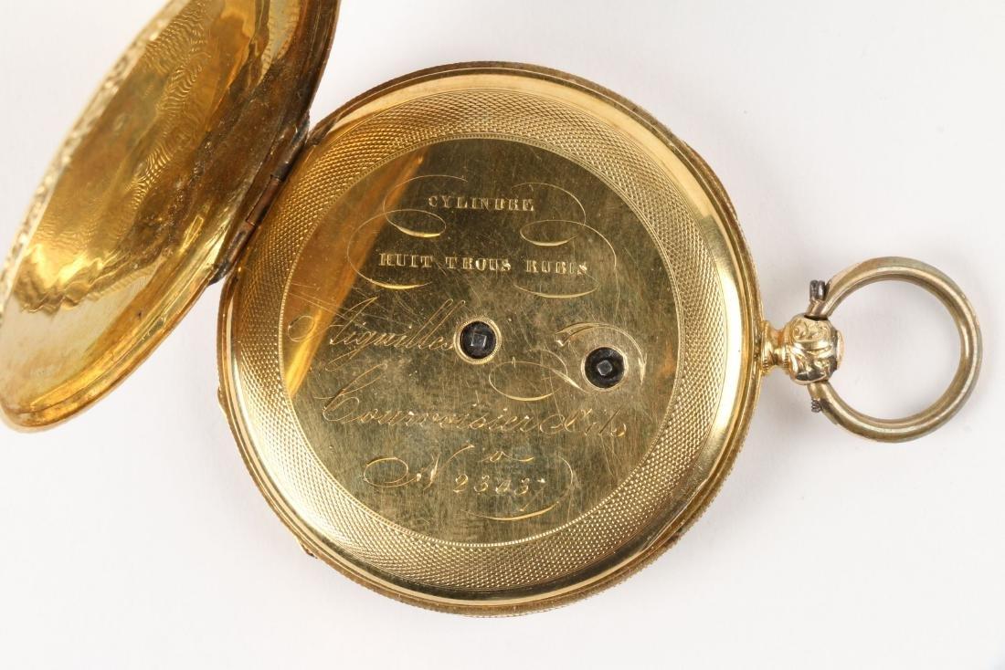 Aiguilles Courvoisier & Fils, 18K Pocket Watch - 5