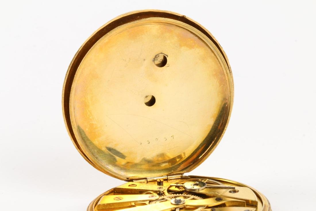 Aiguilles Courvoisier & Fils, 18K Pocket Watch - 7
