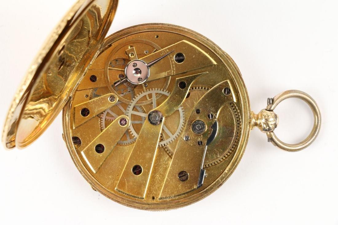 Aiguilles Courvoisier & Fils, 18K Pocket Watch - 8