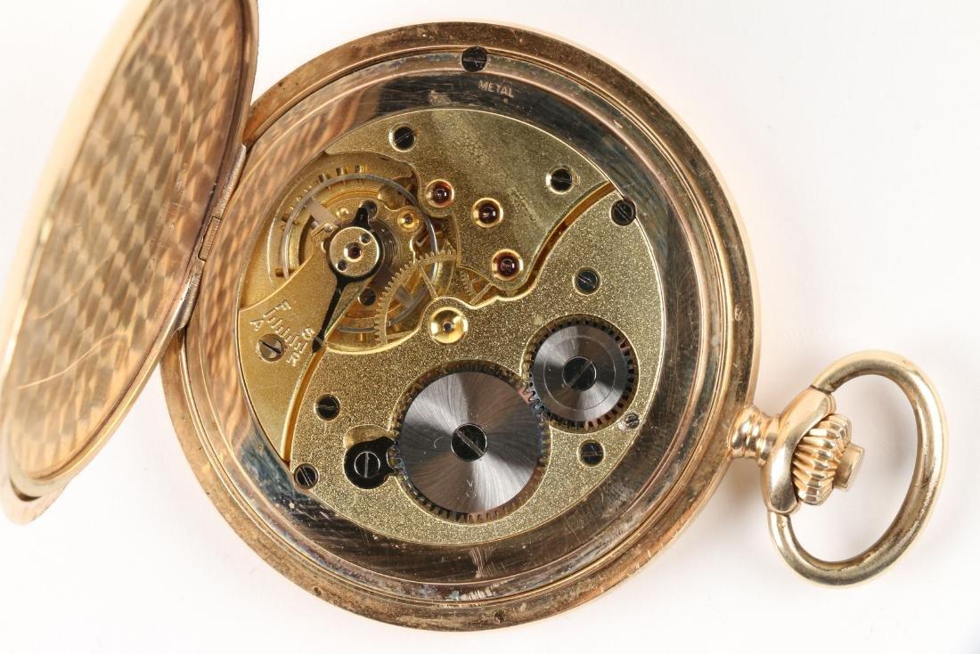 French, 14K Rose Gold Pocket Watch - 10