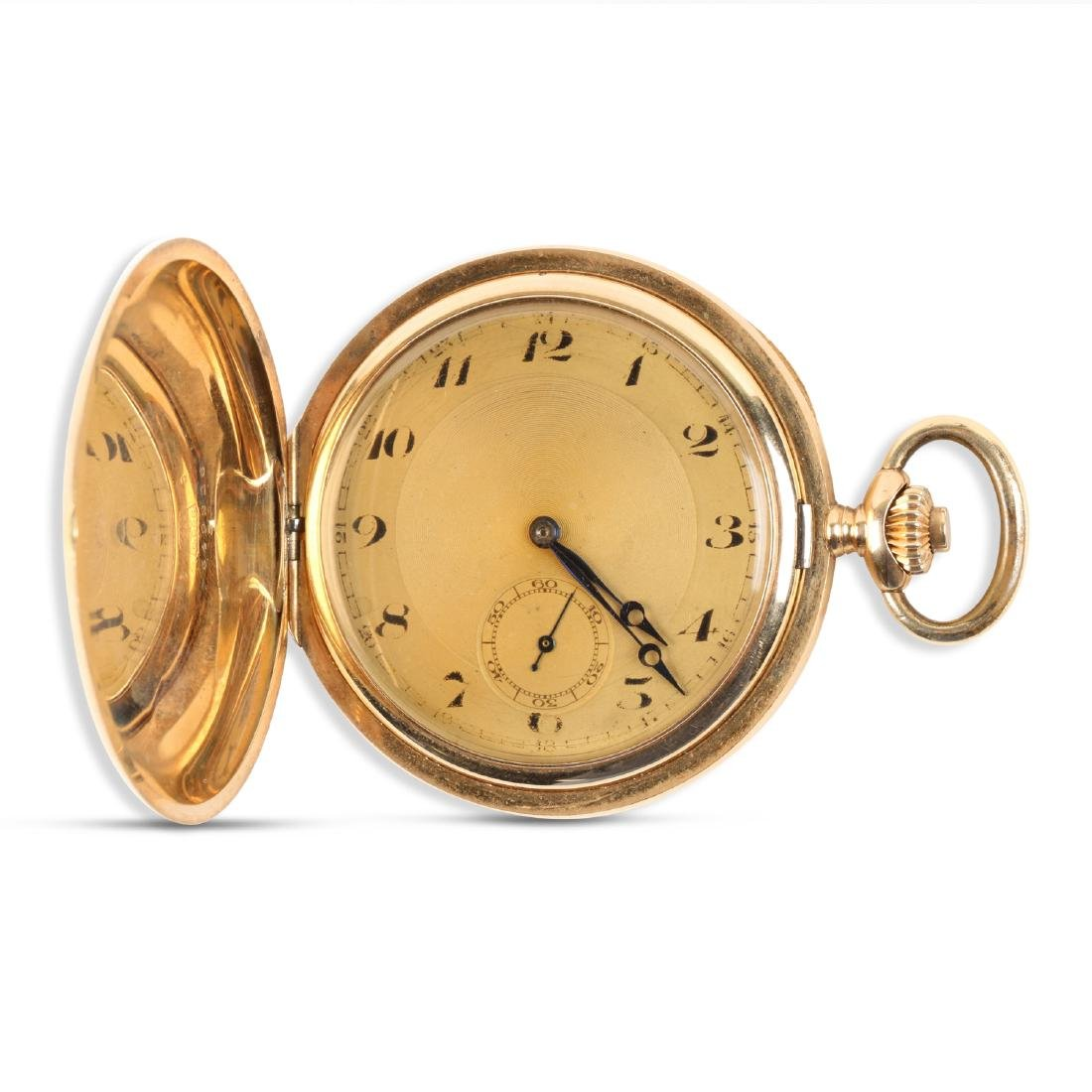 French, 14K Rose Gold Pocket Watch