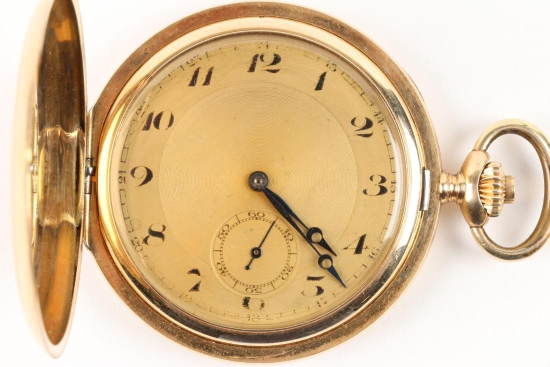 French, 14K Rose Gold Pocket Watch - 2