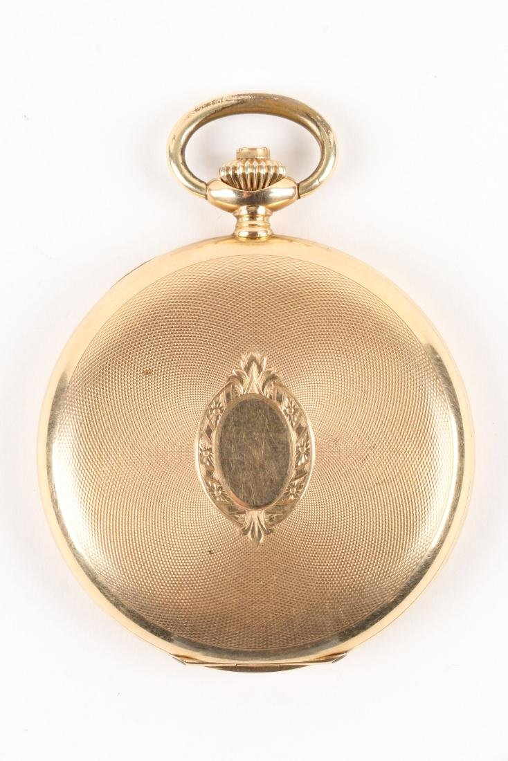 French, 14K Rose Gold Pocket Watch - 4