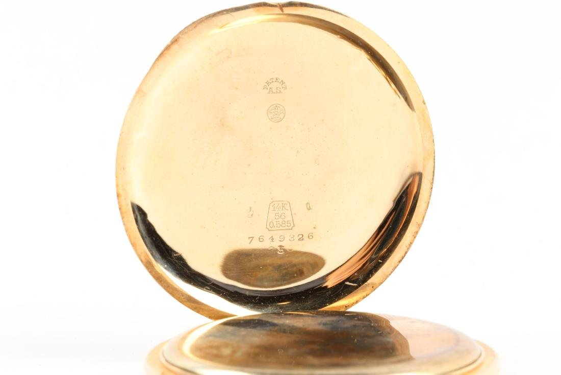 French, 14K Rose Gold Pocket Watch - 8