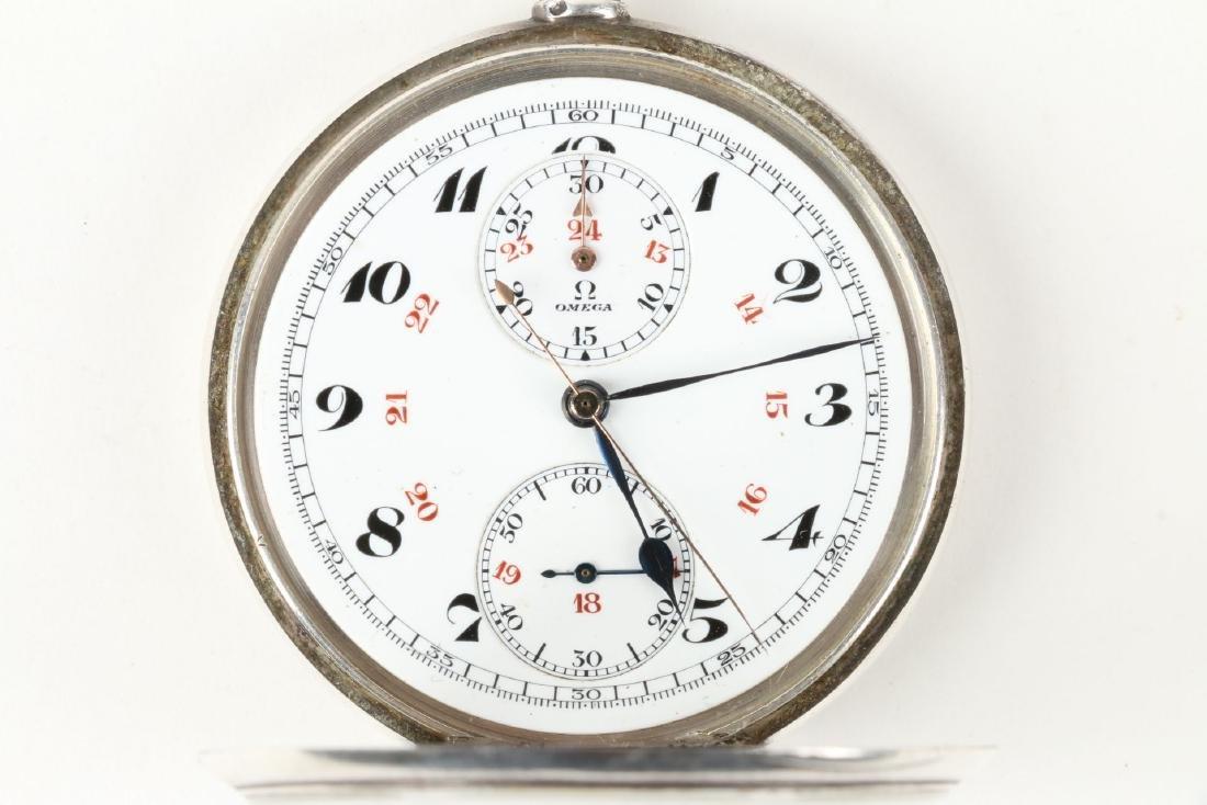 Omega, Chronograph Pocket Watch - 7