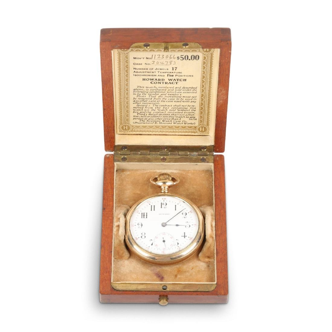 E. Howard, Series 9 Pocket Watch & Box