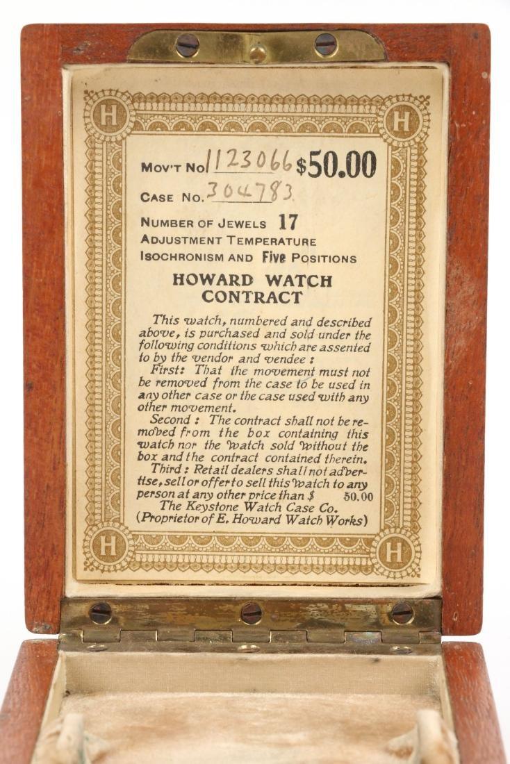 E. Howard, Series 9 Pocket Watch & Box - 8